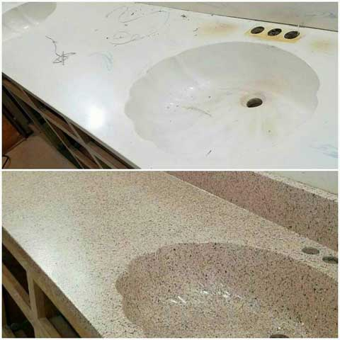 Sink Before & After